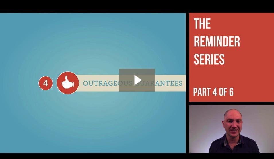 Underdog Reminder Series – Outrageous Guarantees