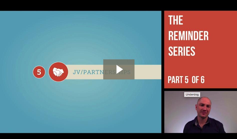 Underdog Reminder Series – Joint Ventures and Partnerships